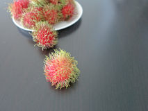 Fresh rambutans. Is fruit for healthy Stock Images