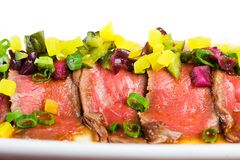 Fresh Rare Red Meat Plate Royalty Free Stock Photography