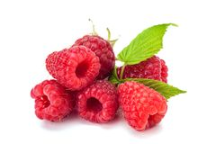 Fresh rasberry isolated. On white backgdound. Natural food Stock Photo
