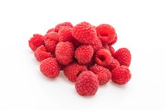 Fresh rasberry on white. Background Royalty Free Stock Photos