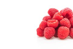 Fresh rasberry on white. Background Stock Photo
