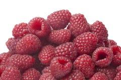 Fresh raspberries. On white background Stock Images