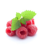 Fresh raspberries. Isolated on white background Royalty Free Stock Photo