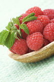 Fresh raspberries. On a plate Stock Images