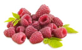 Fresh raspberries. Isolated on white Royalty Free Stock Photography