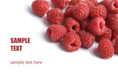 Fresh raspberries background isolated. Fresh ripe raspberries background isolated Royalty Free Stock Photo