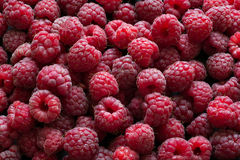 Fresh raspberries background. Top view Royalty Free Stock Images