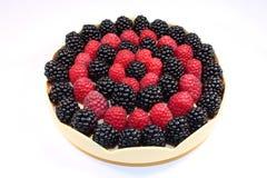 Fresh raspberries and blackberries stock image