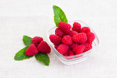 Fresh raspberries in a bowl. Some fresh raspberries in a bowl Royalty Free Stock Image