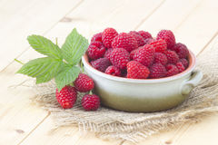 Fresh raspberries Royalty Free Stock Photography