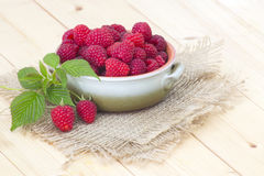 Fresh raspberries. In a bowl Royalty Free Stock Photography
