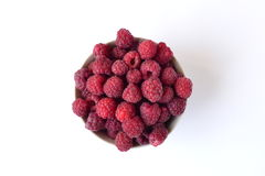 Fresh raspberries in a bowl Royalty Free Stock Photography