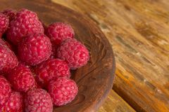 Fresh raspberries close up Stock Image