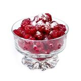 Fresh raspberries in dish Royalty Free Stock Photography