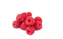 Fresh raspberries isolated. On white background Stock Images