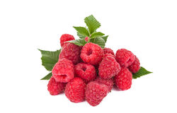 Fresh raspberries isolated. On white background Royalty Free Stock Photo