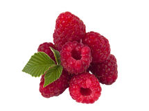 Fresh raspberries isolated Stock Photo