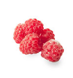 Fresh  raspberries isolated on white background. Indoor Stock Images