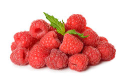 Fresh raspberries. Isolated on white background Royalty Free Stock Photos