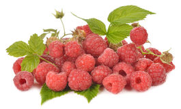 Fresh raspberries. Isolated on white background Stock Photo