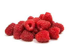 Fresh raspberries isolated. On white background Royalty Free Stock Image