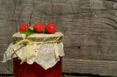 Fresh raspberries and jam Stock Image