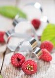 Fresh Raspberries. Portion of fresh Raspberries (detailed close-up shot Royalty Free Stock Photography