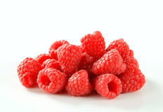 Fresh raspberries. Studio shot of fresh raspberries stock photo