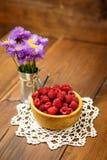 Fresh raspberries Stock Photos