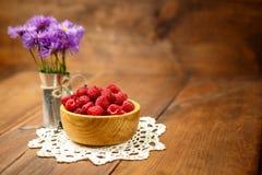 Fresh raspberries Royalty Free Stock Image