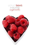 Fresh raspberries (valentines day image) Royalty Free Stock Photos