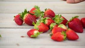 Fresh raspberries in water stock footage