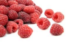 Fresh raspberries. On white background Royalty Free Stock Photo