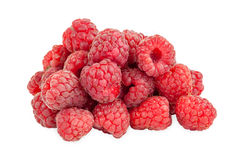 Fresh raspberries on white background Royalty Free Stock Images