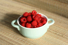 Fresh raspberry. In ceramic bowl Royalty Free Stock Photography