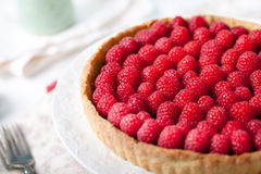 Free Fresh Raspberry And Pistachio Cream Tart Stock Photos - 61214783