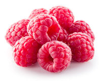 Fresh raspberry. Berries isolated on white. Background Royalty Free Stock Images