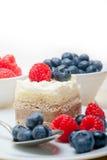 Fresh raspberry and blueberry cake Royalty Free Stock Photo