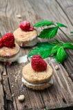 Fresh raspberry cookies Royalty Free Stock Image