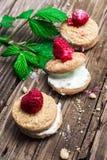 Fresh raspberry cookies Royalty Free Stock Photo