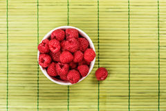 Fresh raspberry. On green napkin Royalty Free Stock Image