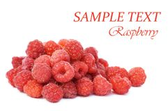Fresh raspberry isolated on white background Royalty Free Stock Photo