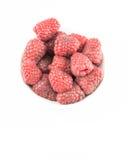 Fresh raspberry isolated on white background. Fresh raspberry on white background Royalty Free Stock Images