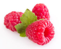 Fresh raspberry. Isolated on white background Royalty Free Stock Images