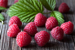 Fresh raspberry organic vegetarian diet snack Stock Photos