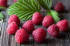Fresh raspberry organic vegetarian diet snack Stock Photos