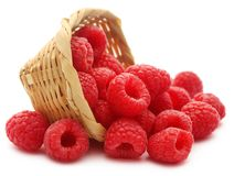Fresh Raspberry. Over white background Stock Image