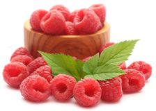 Fresh Raspberry. Over white background Royalty Free Stock Images