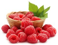 Fresh Raspberry. Over white background Stock Photography