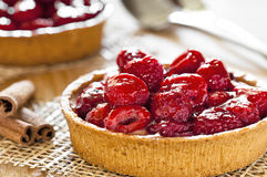 Fresh Raspberry Pies Close Up. Photograph of two freshly made raspberry pies Stock Photo